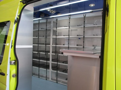 Farmacia bandejas VW Crafter